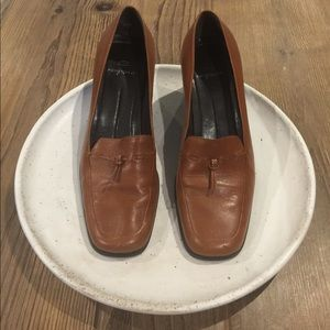 Easy Spirit Block Heel Loafer - Dark Tan